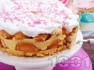 Лесна торта с мини кроасани и ванилов крем